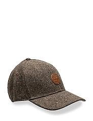 COLOR BLOCK TWEED CAP - COCOA