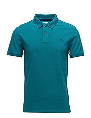 SS Merrymeeting Rv Stretch Pique Polo Slim - HARBOR BLUE