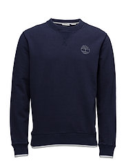 Westfield River Tipped Crew Sweat - MARITIME BLUE