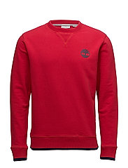 Westfield River Tipped Crew Sweat - TANGO RED
