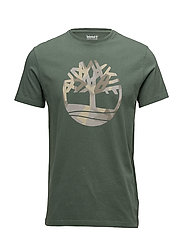 SS Kennebec River Seasonal Pattern Brand Slim Tee (Tree & Li - DUCK GREEN T