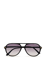 Tom Ford Jared - 01B - SHINY BLACK / GRADIENT SMOKE