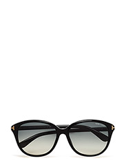 Tom Ford Karmen - 01B - SHINY BLACK / GRADIENT SMOKE