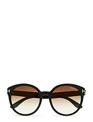 Tom Ford Philippa - 01G SHINY BLACK / BROWN MIRROR