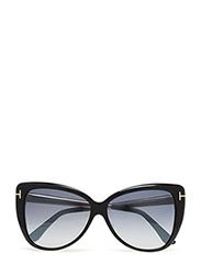 Tom Ford Reveka - 01C SHINY BLACK  / SMOKE MIRROR