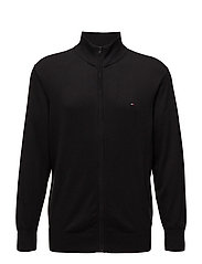 BT-COTTON SILK ZIP T - JET BLACK