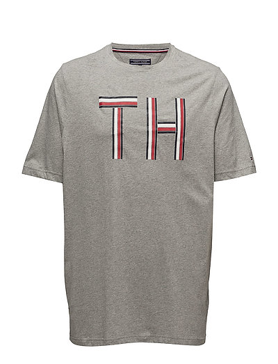 Bt logo graphic tee cloud htr 500 kr tommy hilfiger for Xxl tall graphic t shirts