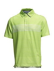 Nathaniel Gradient Stripe SS Polo - lime punsch