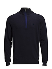 Jacob 1/4 Zip Mock Neck Sweater - midnight