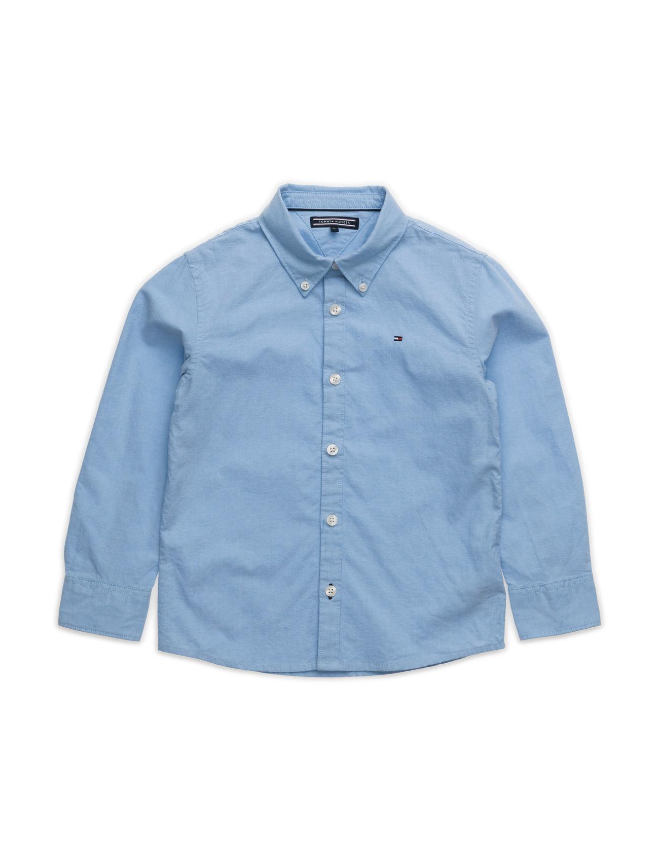 Solid Oxford Shirt L/S. Tommy Hilfiger Trøjer til Drenge i Blå