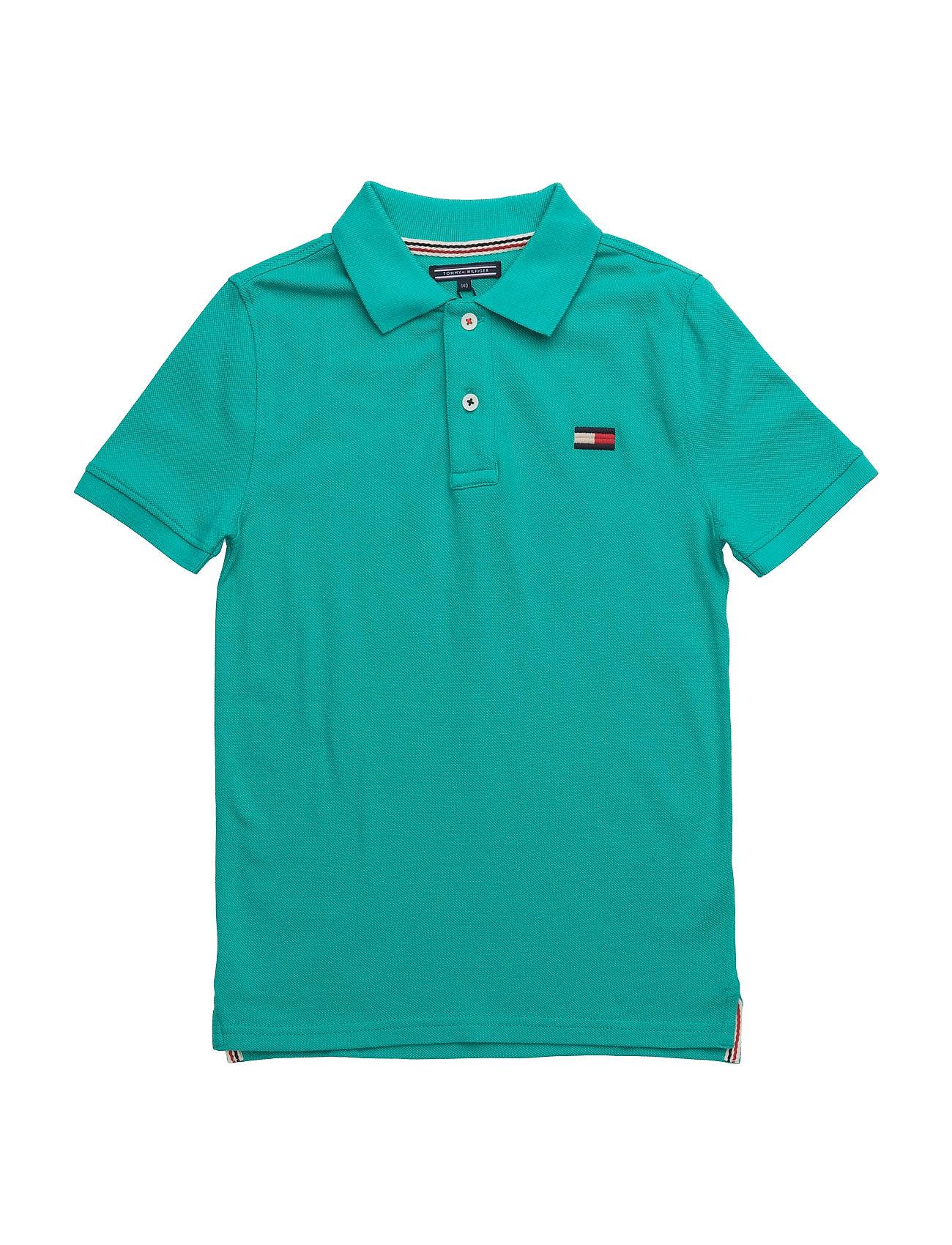 Big Flag Polo S/S Tommy Hilfiger Kortærmede t-shirts til Børn i Grøn