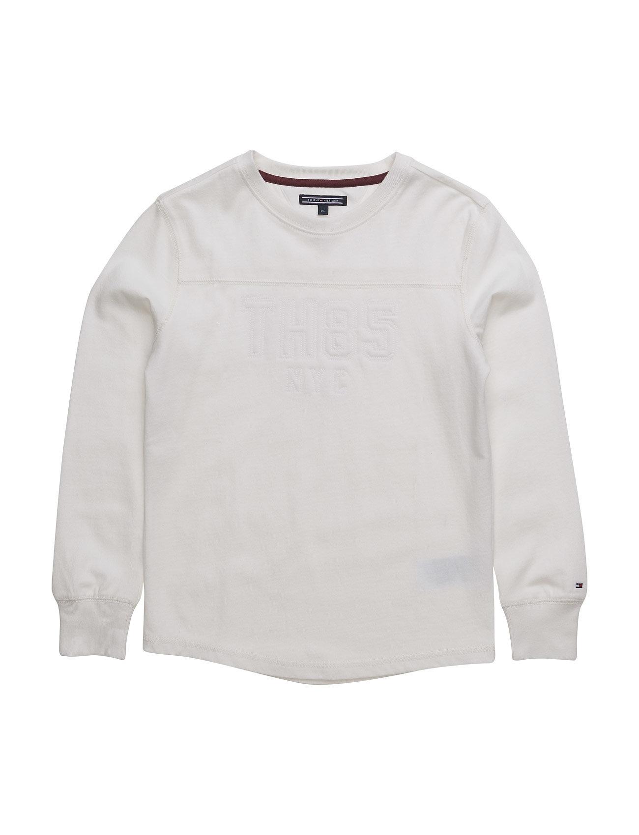 Embro Cn Tee L/S Tommy Hilfiger Langærmede t-shirts til Børn i hvid