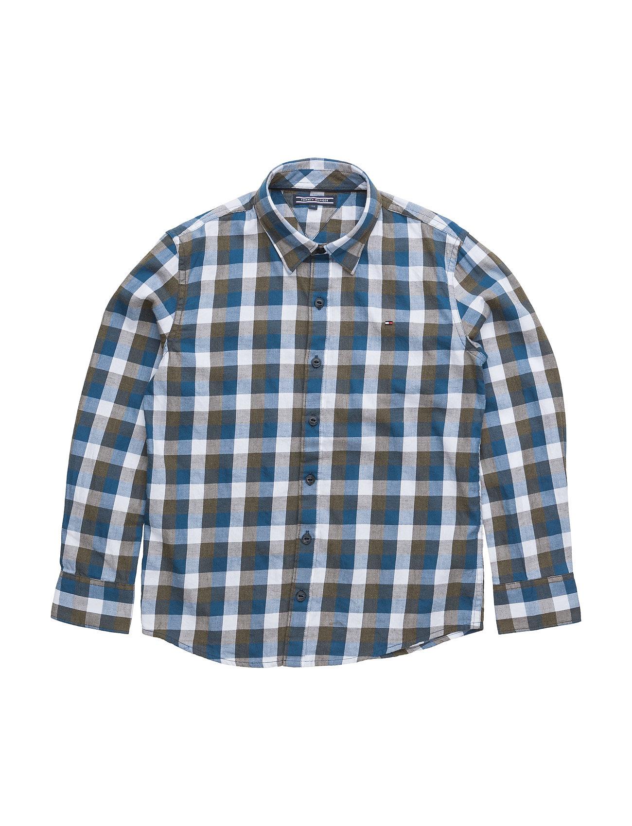 Dg Gingham Twill Check Shirt L/S Tommy Hilfiger  til Børn i Grøn