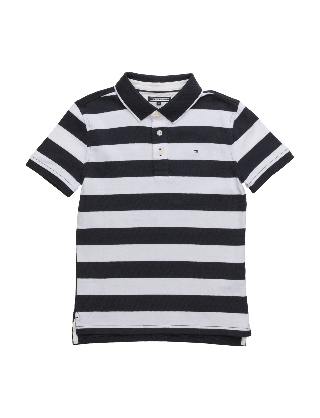 Striped Polo S/S Tommy Hilfiger T-shirts til Drenge i Blå