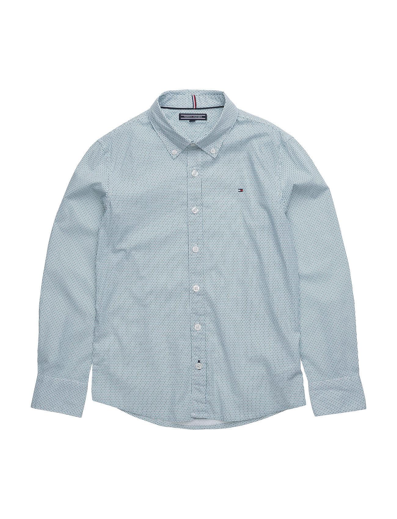 Naz Print Shirt L/S Tommy Hilfiger Trøjer til Drenge i hvid
