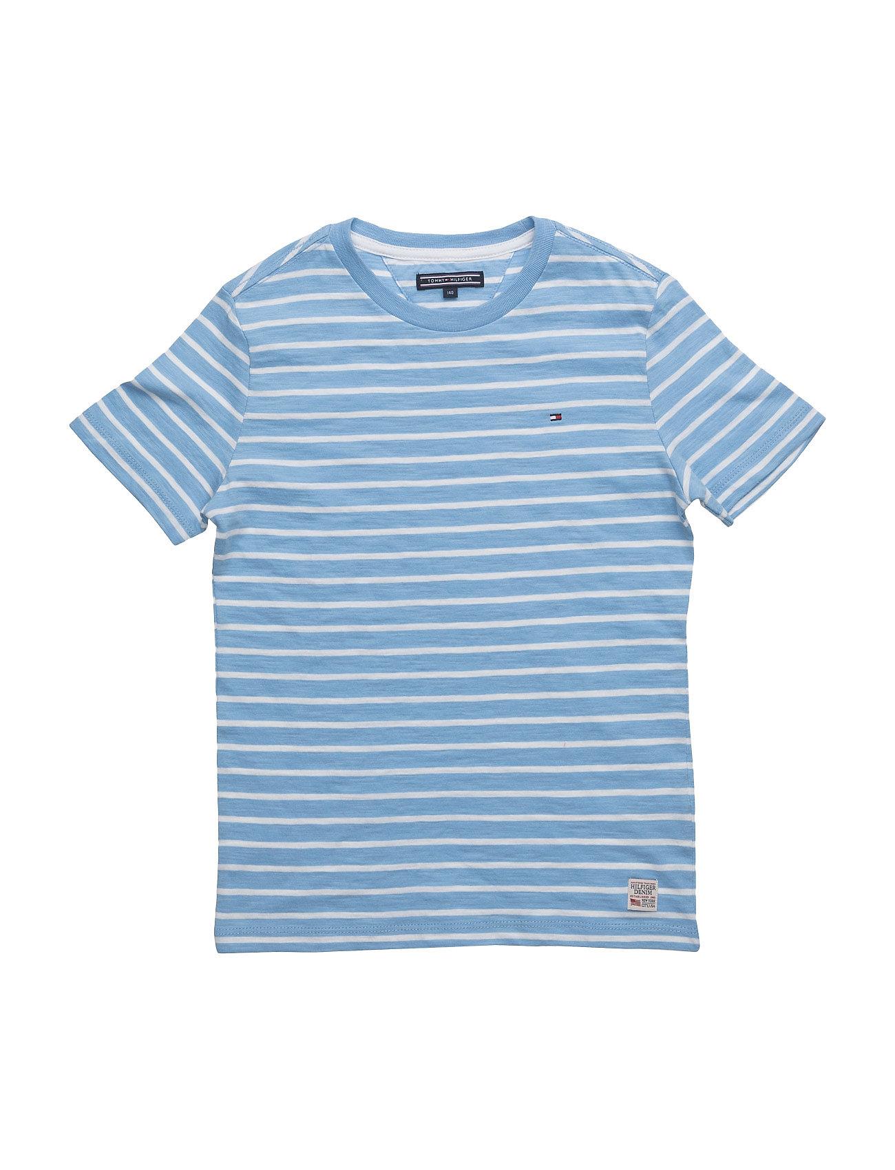 Ame Bicolor Stripe Cn Tee S/S Tommy Hilfiger Kortærmede t-shirts til Børn i Blå