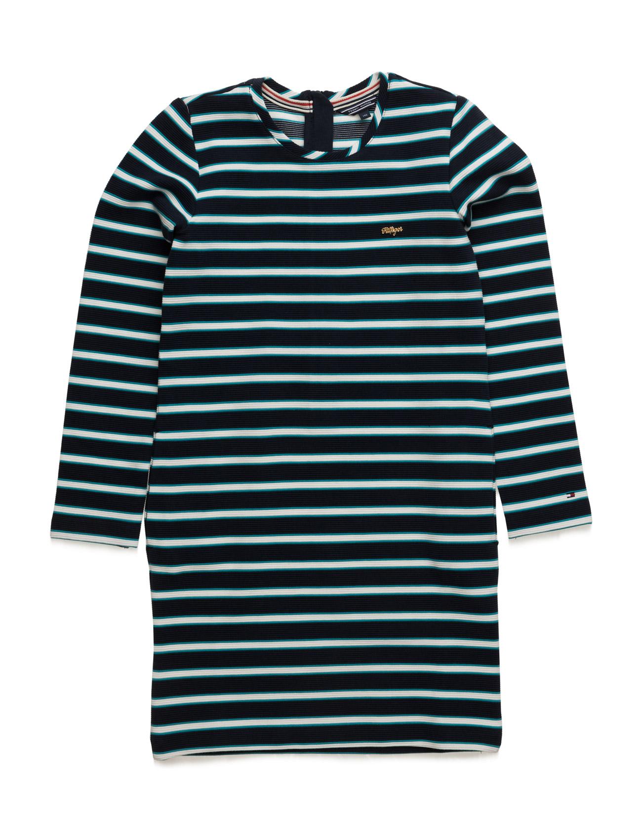 Striped Hwk Dress L/S Tommy Hilfiger Kjoler til Børn i Rød