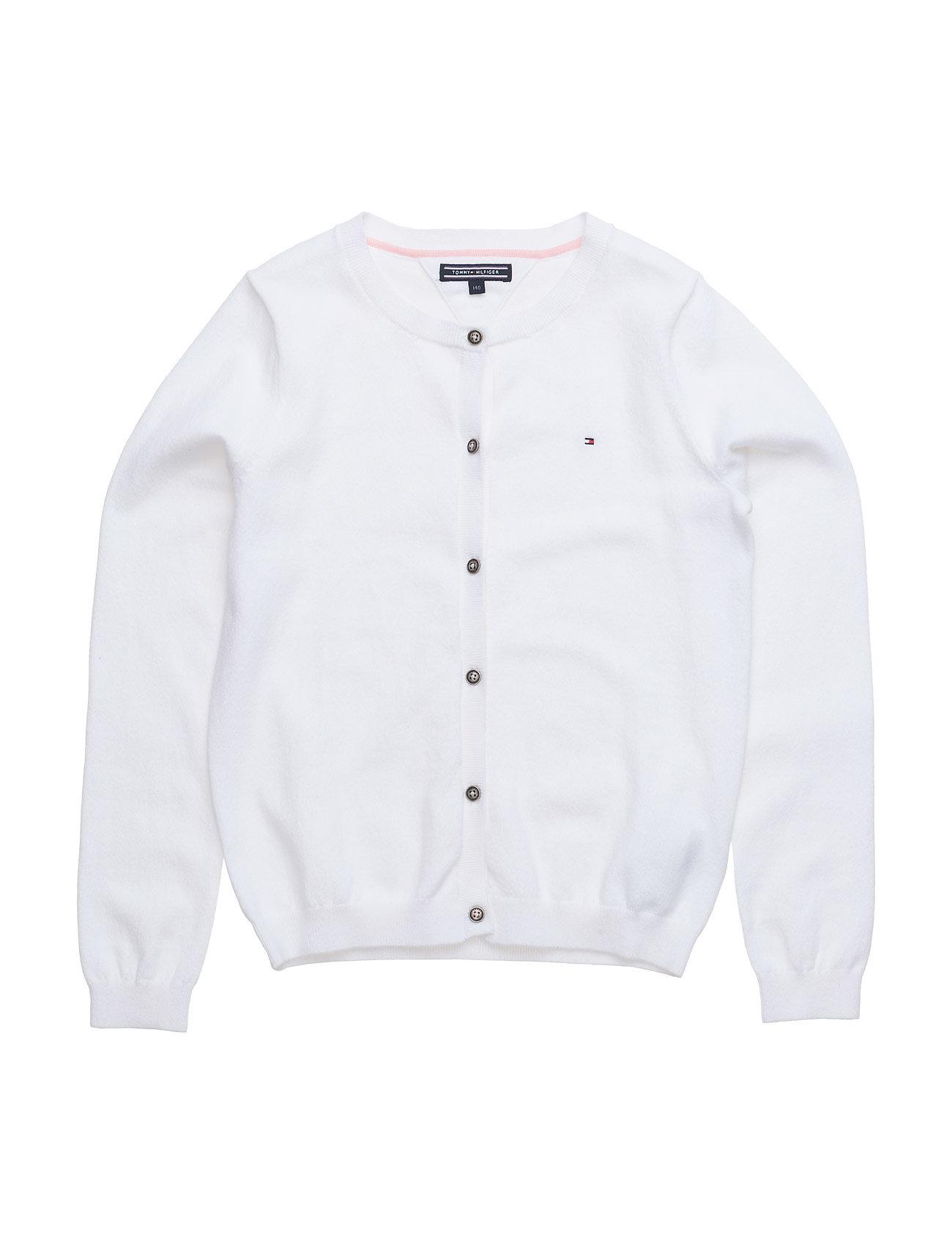 Ame Girls Cn Cardigan L/S Tommy Hilfiger  til Børn i hvid
