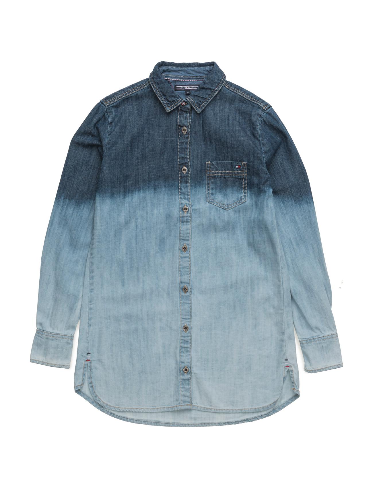 Gradation Denim Shirt L/S Tommy Hilfiger  til Børn i