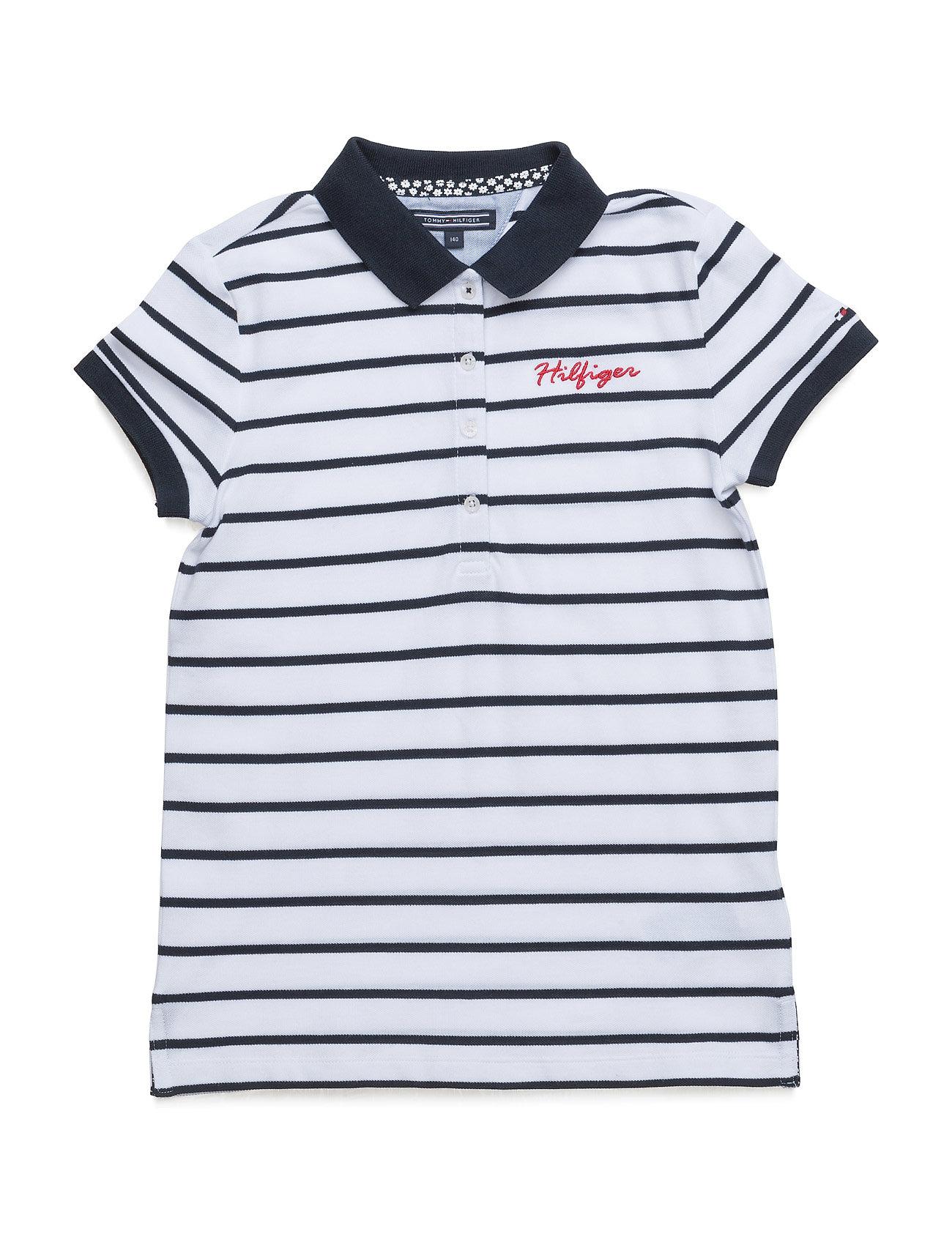 e7e1fbdb Shop Ame Girls Stripe Polo S/S Tommy Hilfiger T-shirts i Blå til Piger hos  Boozt.dk