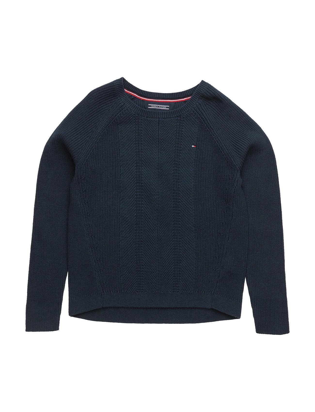 Ame Dg Basic Cn Sweater L/S 16 Tommy Hilfiger  til Børn i Blå