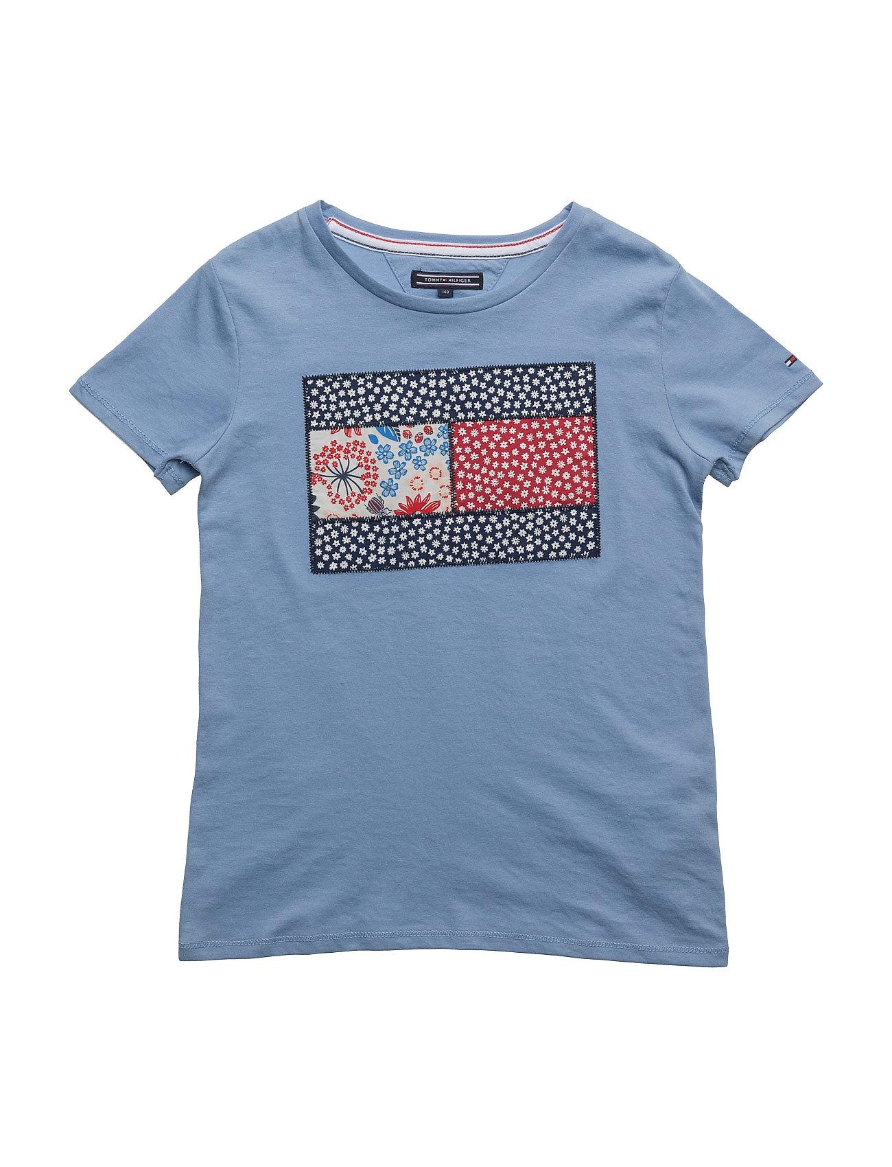 cbe0e5cf Girls Flower Cn Knit S/S Tommy Hilfiger Kortærmede t-shirts til Børn ...