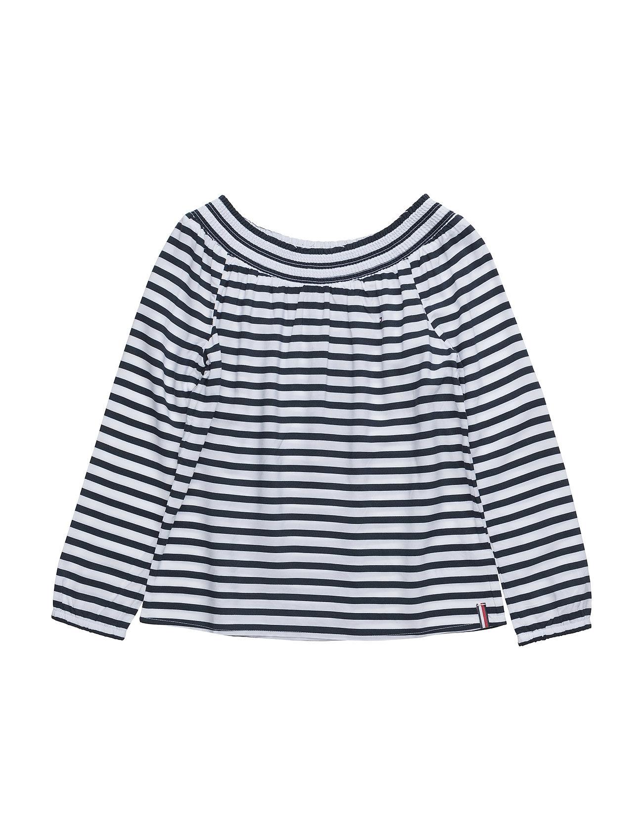 tommy hilfiger – Ame stripe rayon smock top l/s fra boozt.com dk