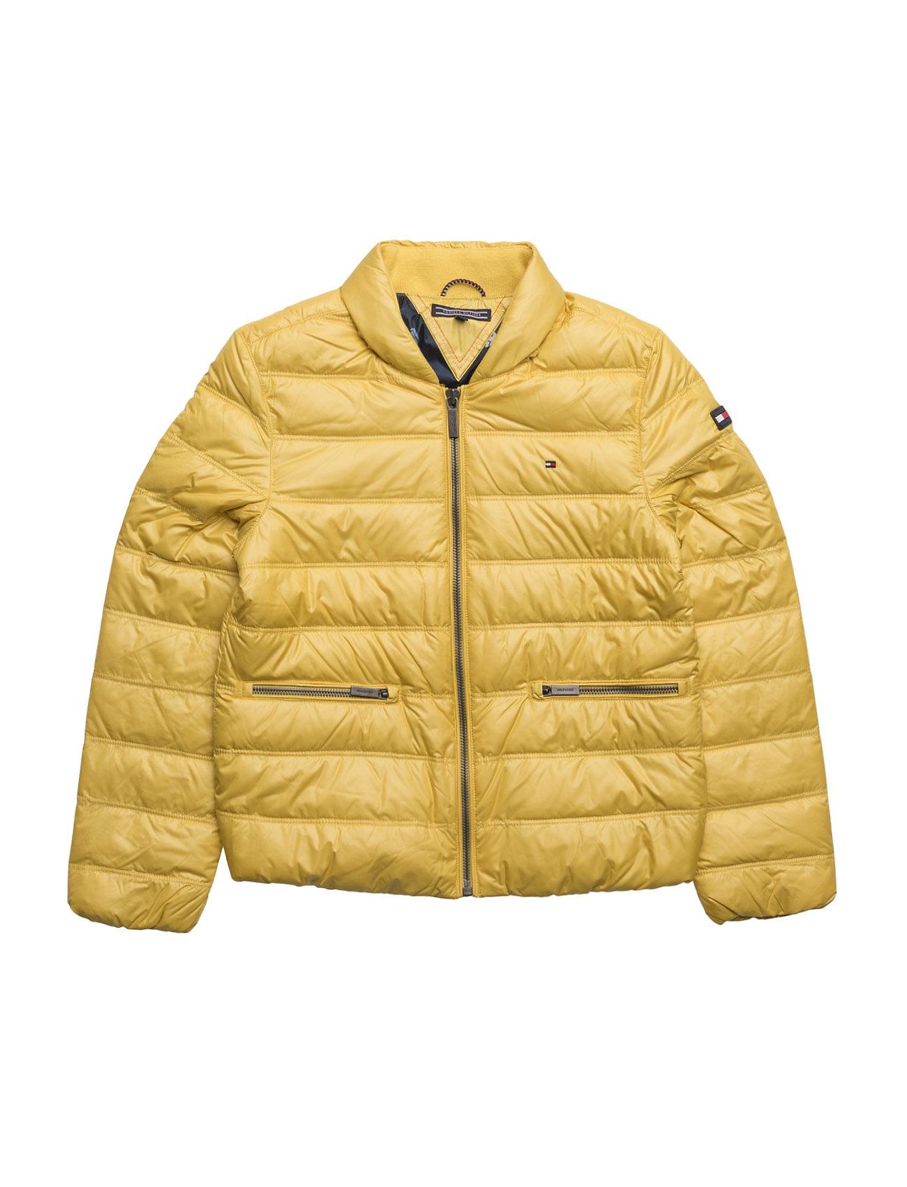 Thkg Packable Light Down Jacket Tommy Hilfiger Overtøj til Piger i Gul
