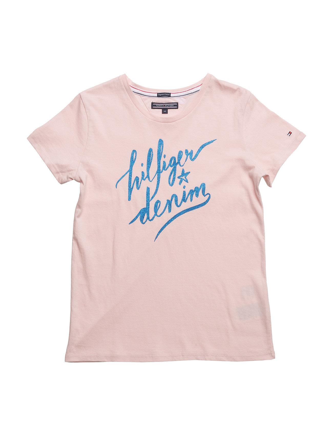 be11a283 Køb Ame Girls Hilfiger Cn Knit S/S Tommy Hilfiger T-shirts i Lyserød til  Piger fra Boozt