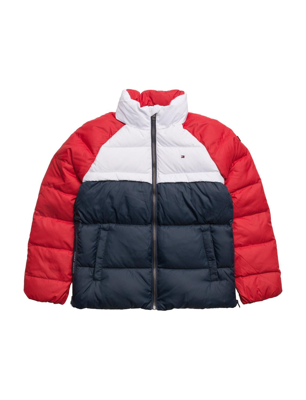 Thkg Rwb Down Colorblock Jacket Tommy Hilfiger Jakker & Frakker til Børn i Blå