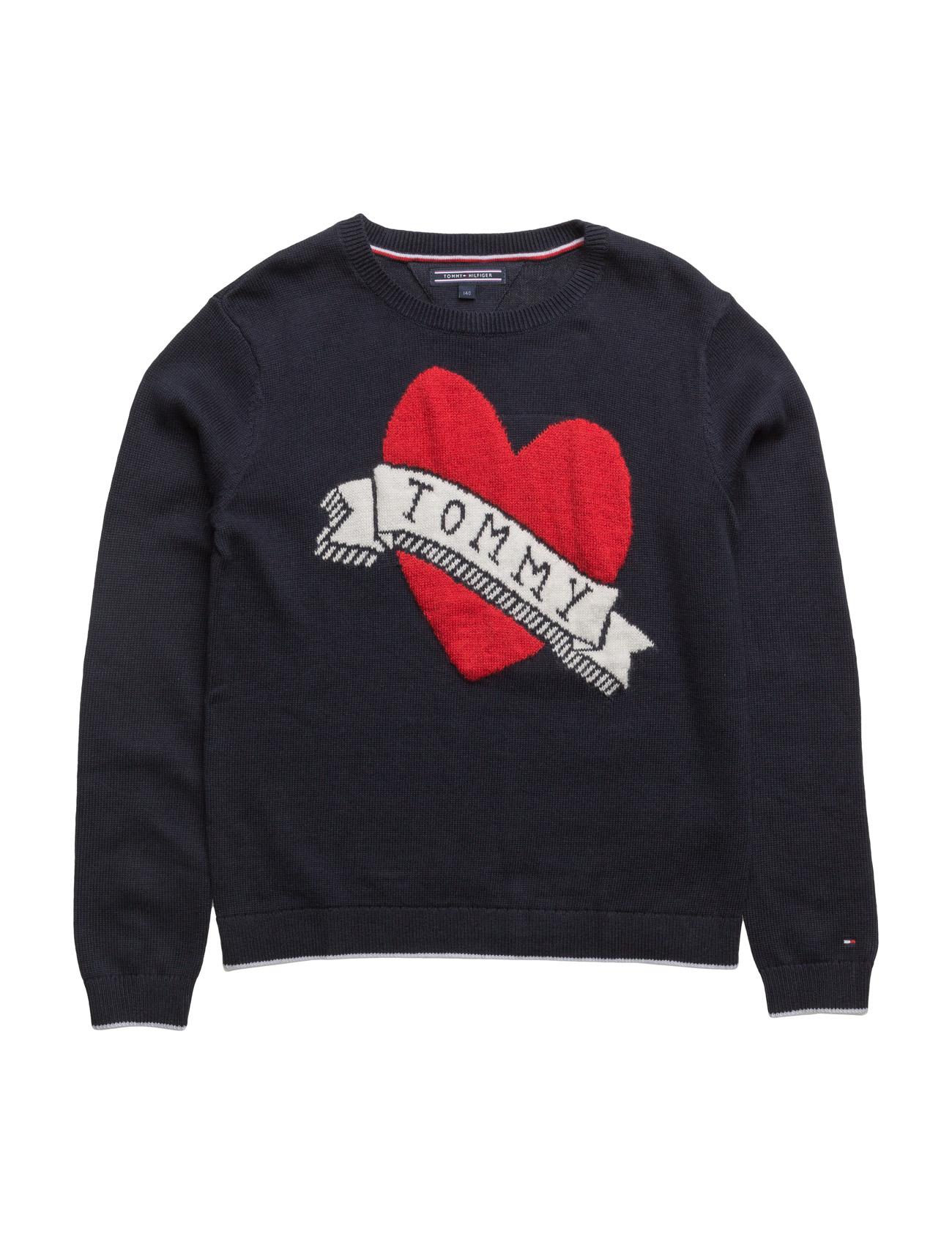 Ame Intarsia  Sweater Tommy Hilfiger  til Børn i Blå
