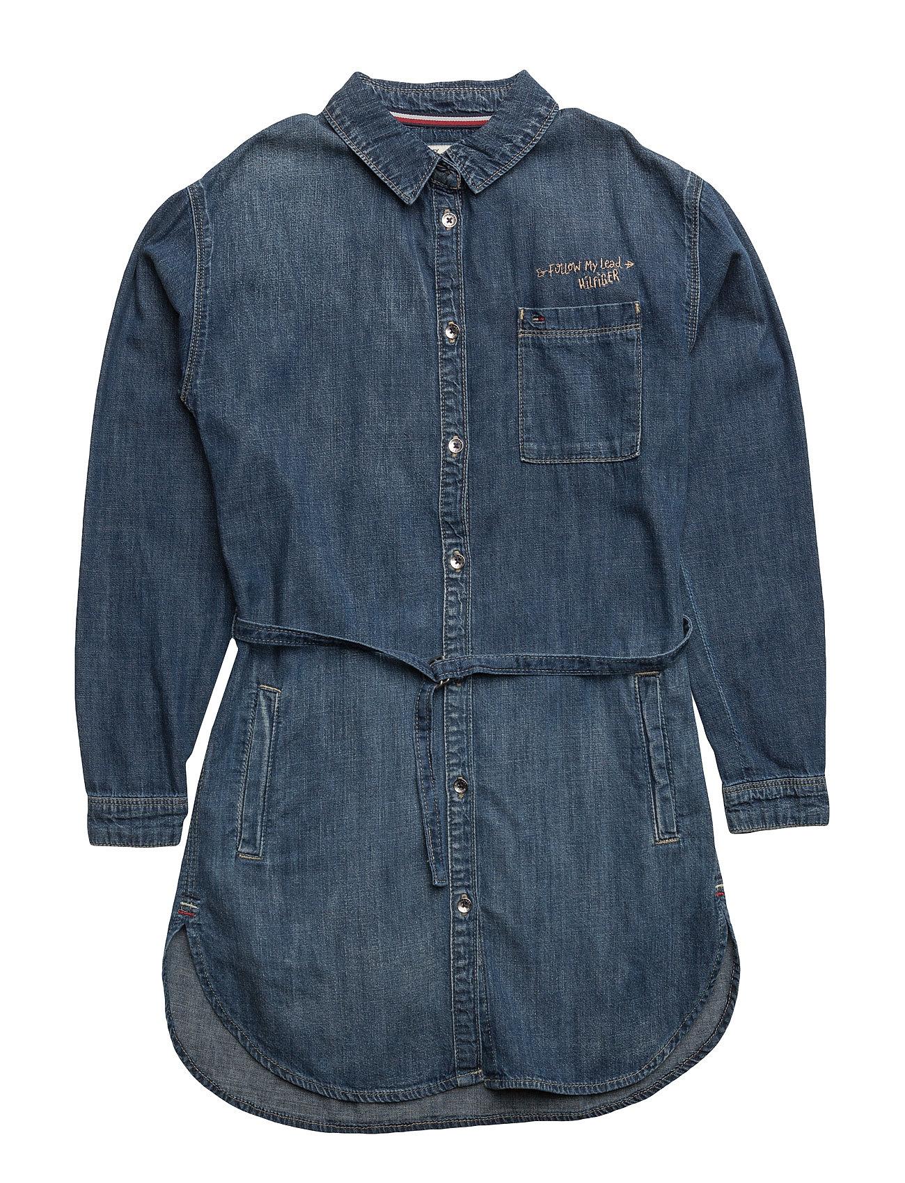 D Drape Shirt Dress Ls Csb Tommy Hilfiger Kjoler til Børn i Denim