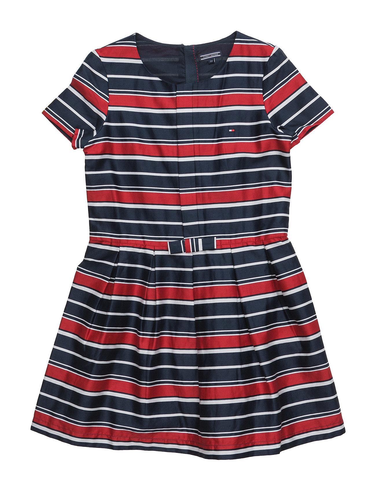 Striped Cotton Sateen Mini Dress S/ Tommy Hilfiger Kjoler til Børn i Blå