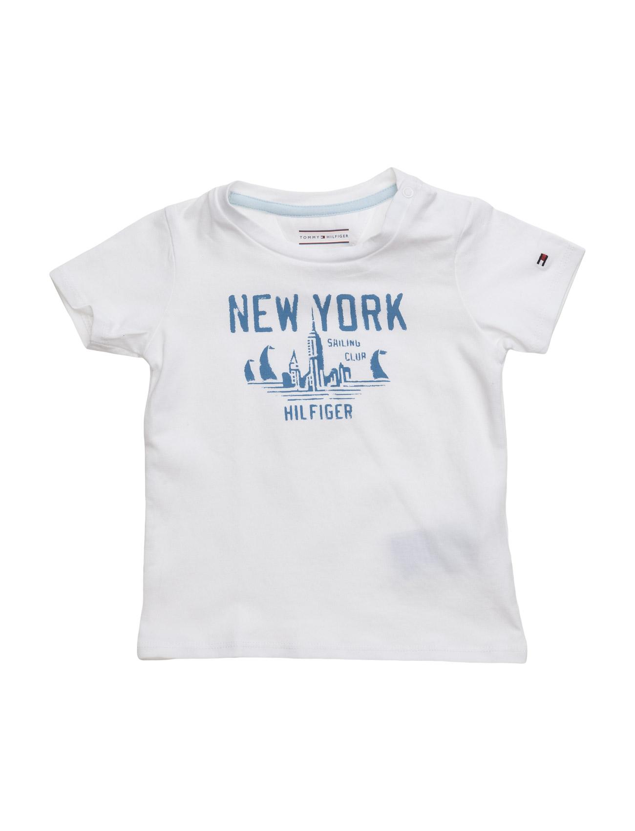 Hilfiger Baby Boy Tee S/S Tommy Hilfiger Kortærmede t-shirts til Børn i hvid