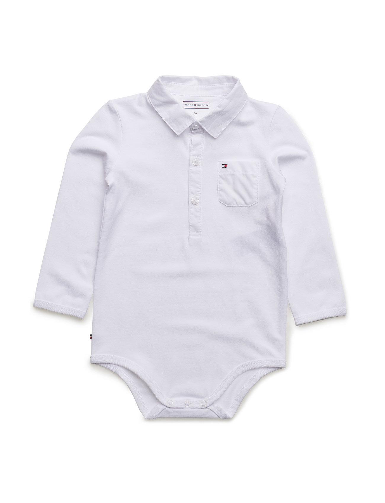 Combi Baby Boy Body L/S Tommy Hilfiger Langærmede bodies til Børn i hvid