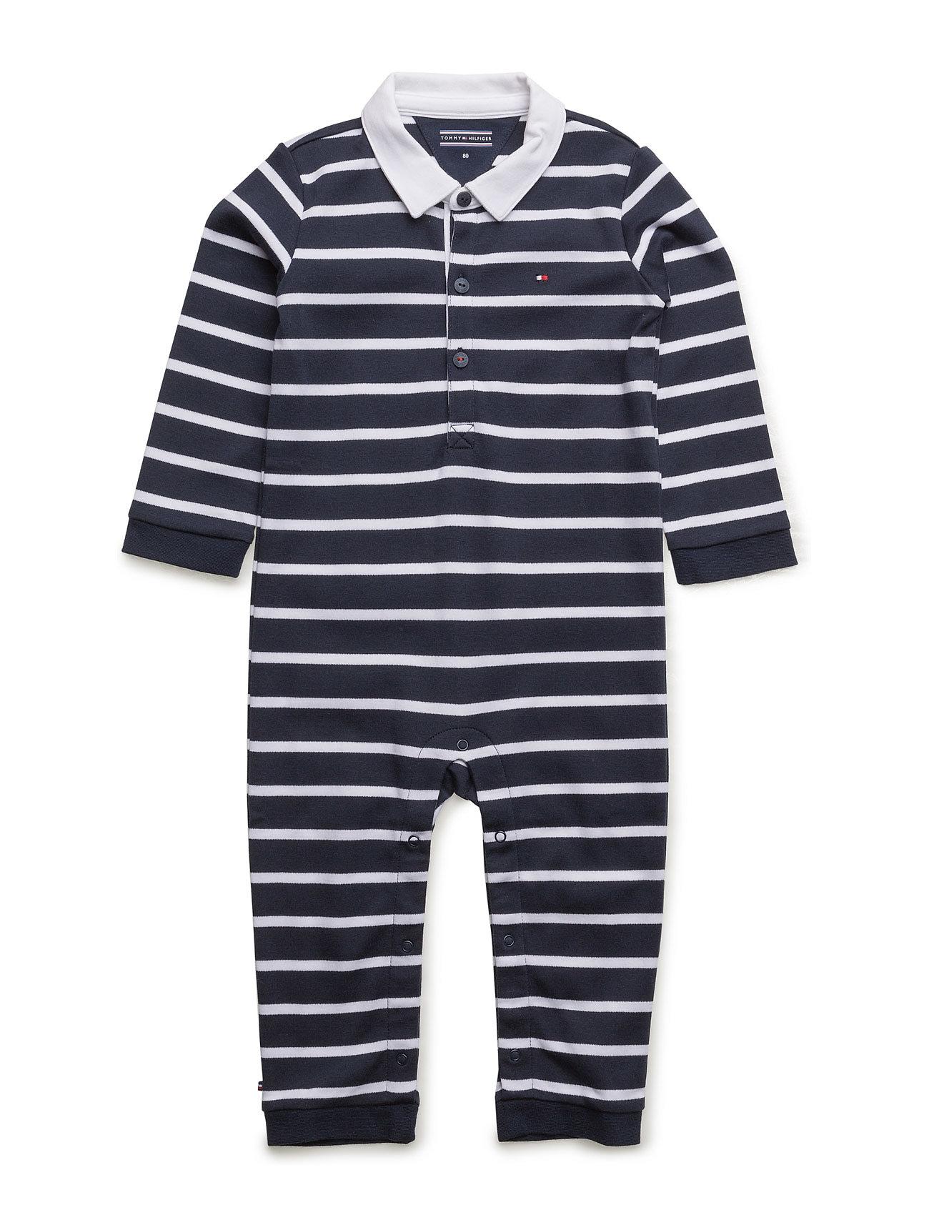 Big Stripe Baby Boy Coverall L S Tommy Hilfiger til Børn i Blå ... f2dc967ef203