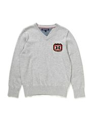 WINSTON VN SWEATER L/S - GREY HEATHER