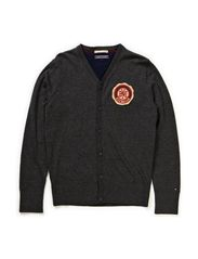 NEW YORK VN CARDIGAN L/S - GREY HEATHER