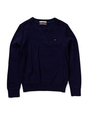 TOMMY CN HTR SWEATER L/S - 005