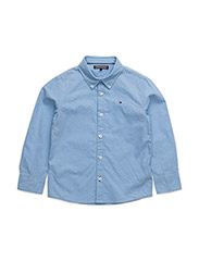 SOLID OXFORD SHIRT L/S - BLUE