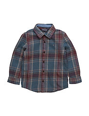 HEAVY TWILL CHECK SHIRT L/S - BROWN