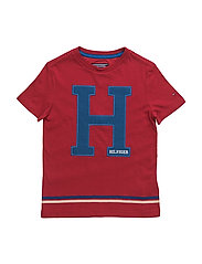 TH APPLIQUE CN TEE S/S - RED