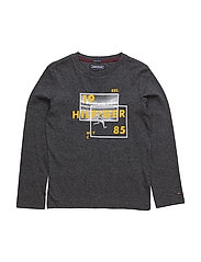 RUGBY PHOTOPRINT CN TEE L/S - GREY
