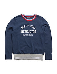AME HILFIGER CN SWEATER L/S - BLUE