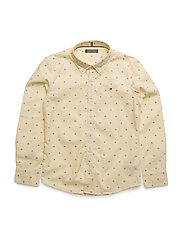 END ON END PRINT SHIRT L/S - YELLOW