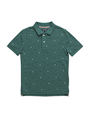 MINI ALL-OVER POLO S/S - GREEN