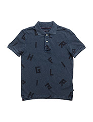 D ALL-OVER POLO S/S - BLUE