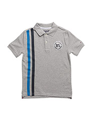 AME BADGE POLO S/S - GREY