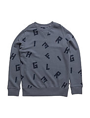 D ALL-OVER CN HWK L/S - GREY