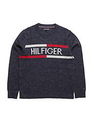 AME HILFIGER CN SWEATER L/S - BLUE